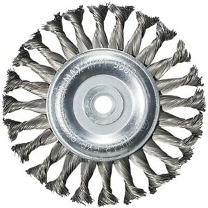 6 Inch Knot Wire Wheel Brush For Angle Grinder 5 8 11 Arbor Pack Of 4