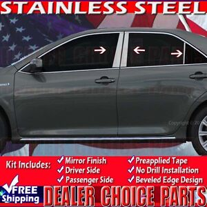 For 2012 2017 Toyota Camry Pillar Posts Trim Covers 6 Pc Stainless Steel