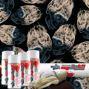 Hydro Dipping Water Transfer Printing Hydrographic Dip Kit Cherry Skulls Ll 115