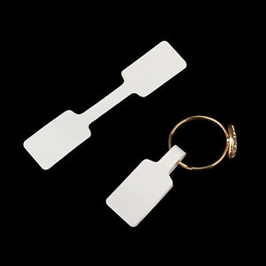 100 Pcs Jewelry Price Tags Necklace Bracelet Ring Blank Labels Paper Stickers