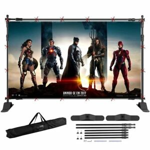 Telescopic Backdrop Stand Adjustable Banner Display Trade Show Wall Exhibitor Ba