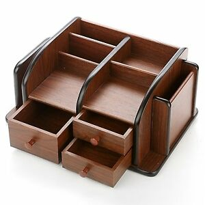 Supplies Desktop Organizer Storage Sorter Desk Holder Trays Drawers Home Office