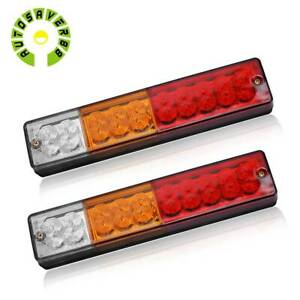 2x Led Truck Tail Light Trailer Brake Running Turn Signal Reverse Indicator Lamp