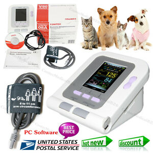 Usa vet Veterinary Oled Digital Blood Pressure heart Beat Monitor Nibp Contec08a
