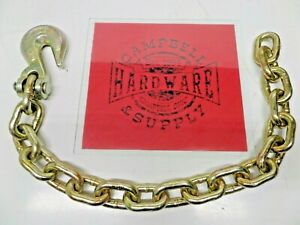 Auto Body Frame Machine Pull Chain 3 8 X 3 Grade 70 With 3 8 Grab Hook