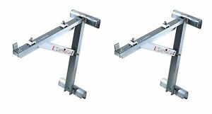 New Werner 20 Ac10 20 02 Two Rung Long Body Aluminum Ladder Jacks set