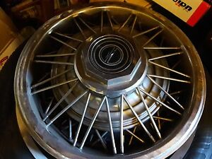 4 Oem 79 93 Ford Mercury 14 Wire Spoked Wheel Covers Mustang Thunderbird