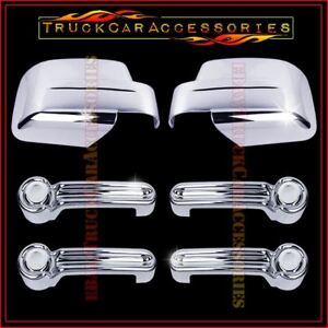 For Jeep Liberty 2008 2011 2012 Chrome Covers Set Full Mirrors 4 Door Handles