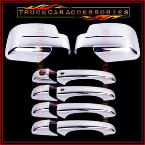 For Jeep Patriot 2008 2014 Chrome Covers Set Full Mirrors 4 Doors Smart W o Pk