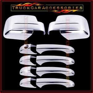 For Jeep Patriot 2008 2011 2012 Chrome Covers Set Full Mirrors 4 Doors Without