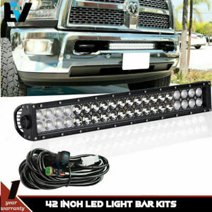 For 03 16 Dodge Ram 2500 3500 22 Led Light Bar Single Row Hidden Bumper Bracket