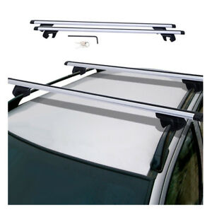 48 Aluminum Car Top Cross Bar Crossbar Roof Rack Pair For Cargo Luggage Silver