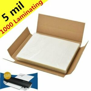 5 Mil Letter Laminating Pouches 1000 Pack Hot Melt 9 X 11 5 Lamination Supplies