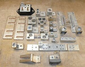 Large Lot Of 21 Pieces Of Mcc Neutral Lugs Bars Buss Bar Clean Used Free S