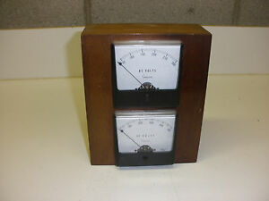 Vintage Simpson Ac dc Meter In Hardwood Box
