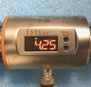 Ifm Efector Sm8004 Electronic Magnetic Flow Meter 100 L min 26 4 Gpm