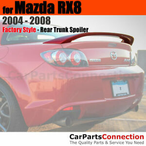 Painted Abs Rear Trunk Spoiler For 2004 2008 Mazda Rx8 Rx 8 A3f Brilliant Black