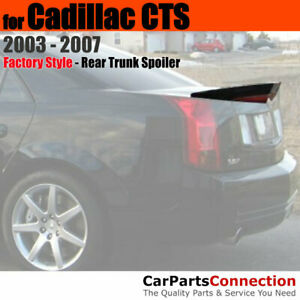 Painted Trunk Spoiler For 03 07 Cadillac Cts Flush Mount Wa8555 Black Clearcoat
