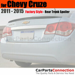 Painted Abs Trunk Spoiler For 11 Chevy Cruze Sedan Wa636r Silver Ice Metallic
