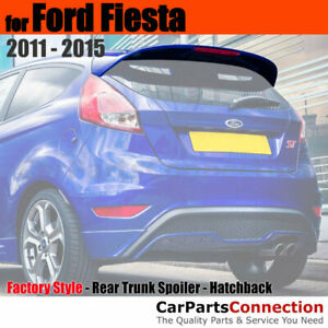 Painted Abs Rear Trunk Spoiler For 11 15 Ford Fiesta 5dr Hatch Yz Oxford White