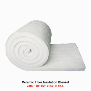 1 2 Ceramic Fiber Insulation Blanket 2300f 8 High Temp Insulation 24 X 12 5