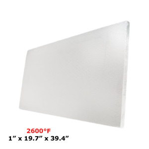 1 Refractory Ceramic Fiber Insulation Board 2600f 19 7 X 39 4