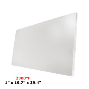 1 Refractory Ceramic Fiber Insulation Board 2300f 19 7 X 39 4