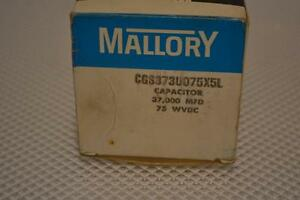 One New Mallory Capacitor Cgs373u075x5l