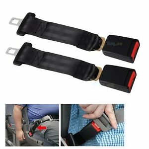 2x 36cm Auto Car Seat Belt Extension Extender Safety Support 2 1cm Buckles Us