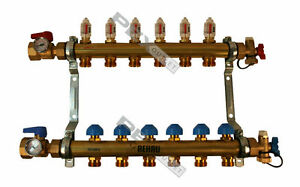 Rehau Pro balance Radiant Floor Heat Manifold For Pex Pipe 6 Circuit