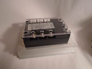 New 3 Phase Rk 3 d38a25z Solid State Relay W Heat Sink 5 32vdc 25a