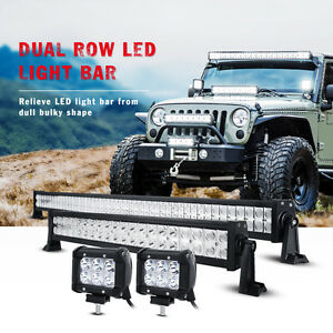52inch 700w Cree Led Light Bar 22in 4 Cree Pods Offroad Suv 4wd Ford Jeep Atv