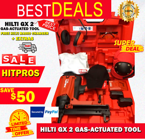 Hilti Gx 2 Gas actuated Tool New Free Hilti Radio Charger Extras Fast Ship
