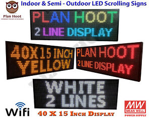 40 x15 Wifi Usb Led Programmable Scrolling Sign For Semi Outdoor Indoor Use