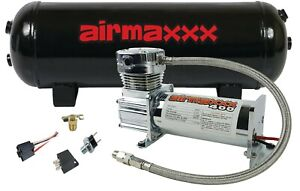 Air Compressor Chrome 400 Airmaxxx 3 Gallon Air Tank Drain 90 On 120 Off Switch
