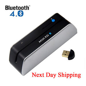 One Day Ship Bluetooth Msrx6 bt Card Reader Writer Encoder Msr206 Swipe