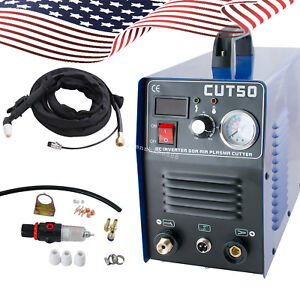 Usa 50a Cut 50 Inverter Digital Air Cutting Machine Plasma Cutter Welder 110v