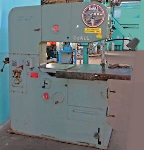 Doall 3613 2 Vertical Contouring Band Saw With Blade Welder
