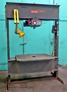 Dake 75 Ton Hydraulic Press elec draulic With Extra Wide H frame