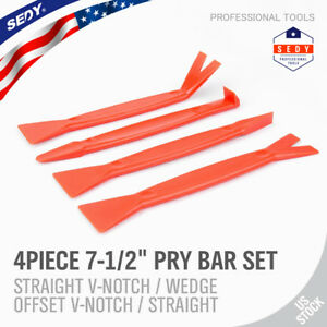 4pc Nylon Pry Bar Set Automotive Dash Panel Plastic Molding Trim Remover Puller