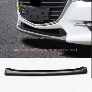 Carbon Fiber Abs Pattern Front Bumper Lip Cover Trim For Mazda 3 Axela 2017