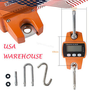 Us Digital 300kg 660lbs Crane Scale Industrial Hook Hanging Weight Crane Scale