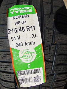 4 New 215 45 17 Nokian Wrg3 All Weather Tires 91v Xl dot 1714 shipping Disc
