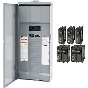 Square d Homeline 200amp 30 circuit 60 space Outdoor Main breaker Box Load panel