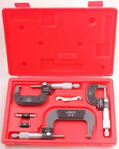 0 3 Inch 3 Piece Digit readout Micrometer Set 0001 Inch 4200 0030