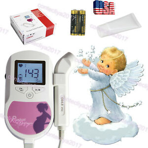 2018 New Contec Fetal Heart Doppler Lcd 3mhz Probe gel battery Fda ce Us Seller