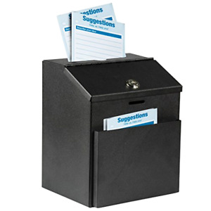 Adir Wall Mountable Steel Suggestion Box With Lock Donation Box Collection