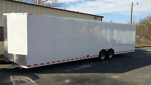 New 8 5 X 32 V Nose Enclosed Trailer Landscape Atv Motorcycle Racing Utv