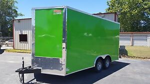 New 8 5 X 16 V Nose Enclosed Trailer Utv Rzr 4 Wheeler Ranger Atv