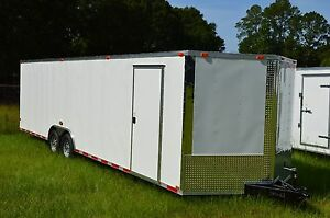 8 5x28 Enclosed Trailer Cargo 5200 V Nose 30 Car Hauler 8 Motorcycle 2017 Call
